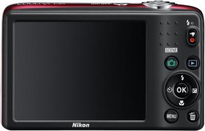 Компактный фотоаппарат Nikon Coolpix L25 Red - общий вид