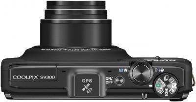 Компактный фотоаппарат Nikon Coolpix S9300 (Black) - вид сверху