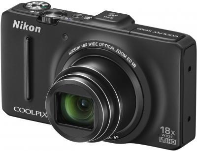Компактный фотоаппарат Nikon Coolpix S9300 (Black) - общий вид