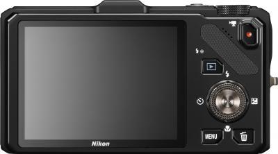 Компактный фотоаппарат Nikon Coolpix S9300 (Black) - вид сзади