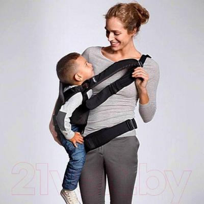 Эрго-рюкзак BabyBjorn One Cotton Mix 0910.65 (черно-серый) - общий вид