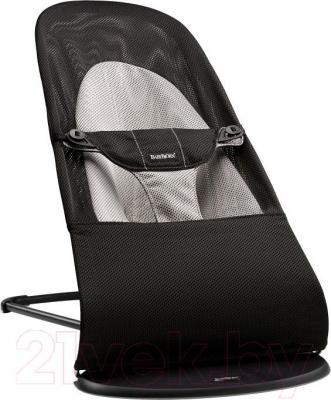 Детский шезлонг BabyBjorn Balance Soft Mesh 0050.28 (черно-серый) - общий вид