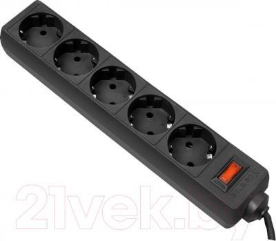 Сетевой фильтр Defender ES 99484 (1.8м, 5 розеток, черный)