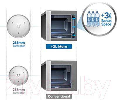 Микроволновая печь Samsung ME83KRQW-2/BW - презентационное фото 1