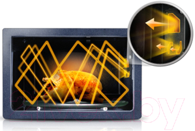 Микроволновая печь Samsung ME83KRQW-2/BW - презентационное фото 2