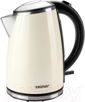 Электрочайник Zelmer ZCK1274E/CK1020 (кремовый)