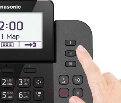 Беспроводной телефон Panasonic KX-TGF320RUM - клавиши для набора в одно касание
