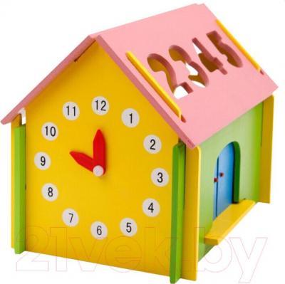 Развивающая игрушка Yunhe Muwanzi Дом с часами MSN00042
