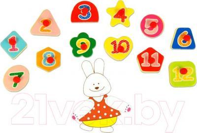 Развивающая игрушка Yunhe Muwanzi Часы OG5667A - цифры