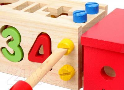 Развивающая игрушка Yunhe Muwanzi Автомобиль DDM-0705 - в наборе имеется деревянная отвертка