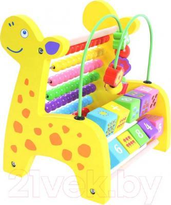 Развивающая игрушка Yunhe Muwanzi Жираф-счеты HJB-0408