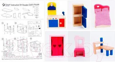 Аксессуар для куклы Classic World Кукольный домик CLWT702M - мебель в комплекте