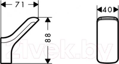 Крючок для ванны Hansgrohe Urquiola 42401000