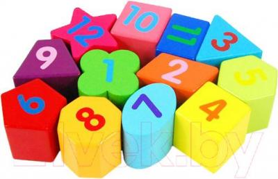 Развивающая игрушка Yunhe Muwanzi Часы TTM-0122 - цифры
