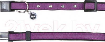 Ошейник Trixie Velvet 4148 (со стразами, с колокольчиком) - общий вид