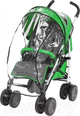 Детская прогулочная коляска Chicco Multiway (Wasabi) - общий вид с дождевиком