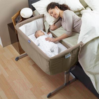 Детская кроватка Chicco NEXT2ME (серебристый)