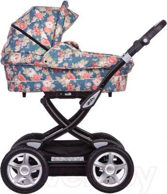 Детская универсальная коляска Geoby C3018 Lux (RGMD) - вид сбоку