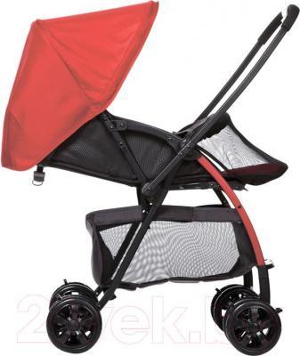 Детская прогулочная коляска Happy Dino LC598 (оранжевый) - вид сбоку