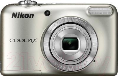Компактный фотоаппарат Nikon Coolpix L31 (серебристый)