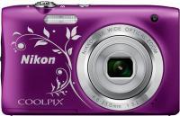 Фотоаппарат Nikon Coolpix S2900 (фиолетовый с рисунком) -