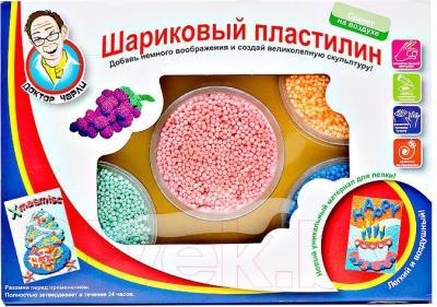 Набор для лепки Доктор Чарли Сохнущий шариковый пластилин с трафаретом