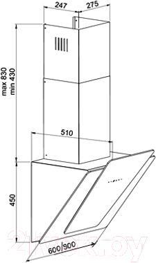 Вытяжка декоративная Zorg Technology Felice 90 (черный)
