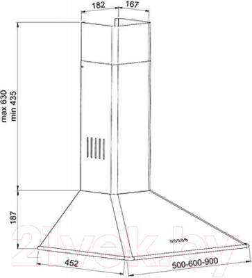 Вытяжка купольная Zorg Technology Onda 60 (белый/бронза)