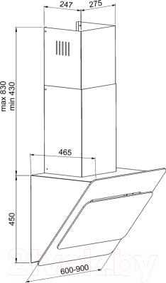 Вытяжка декоративная Zorg Technology Fatale 60 (белый)