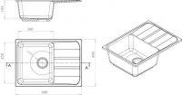 Мойка кухонная Harte H-5068 (терракотовый) -