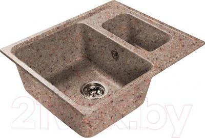 Мойка кухонная Harte H-6059K (песочный) - общий вид (образец цвета может отличаться от реального цвета мойки)