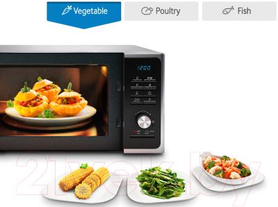 Микроволновая печь Samsung MS23F302TQS/BW - презентационное фото