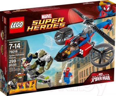 Конструктор Lego Super Heroes Спасательная операция на вертолете Человека-Паука (76016) - упаковка