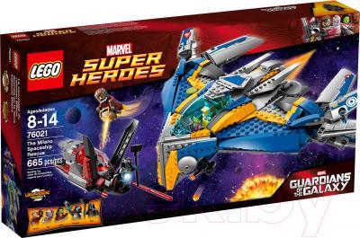 Конструктор Lego Super Heroes Спасение космического корабля «Милано» (76021) - упаковка