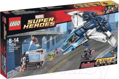 Конструктор Lego Super Heroes Погоня на Квинджете Мстителей (76032) - упаковка