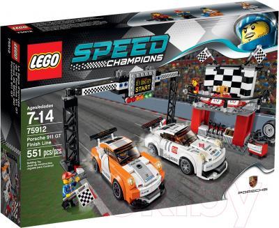 Конструктор Lego Speed Champions Финишная линия гонки Porsche 911 GT (75912) - упаковка