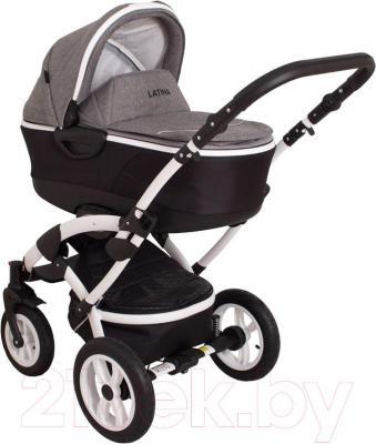 Детская универсальная коляска Coto baby Latina 3 в 1 (серый лен)