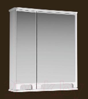 Шкаф с зеркалом для ванной Ванланд Венеция 1-60 (белый, правый)