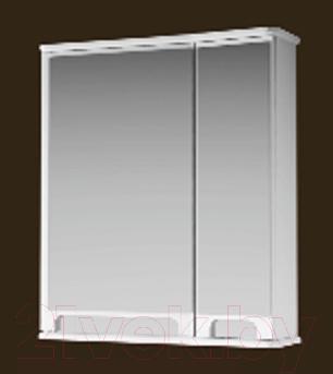 Шкаф с зеркалом для ванной Ванланд Венеция 1-65 (белый, левый)