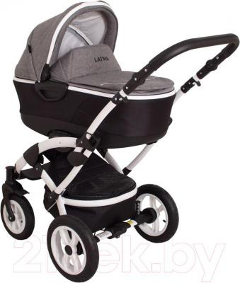 Детская универсальная коляска Coto baby Latina 2 в 1 (серый лен)