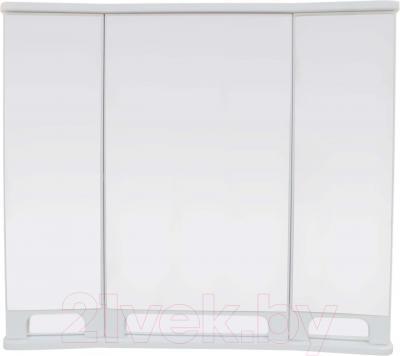 Шкаф с зеркалом для ванной Ванланд Венеция 1-90 (белый)