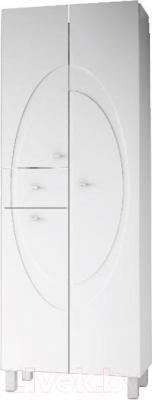 Шкаф для ванной Ванланд Монако 3 (белый, с корзиной)