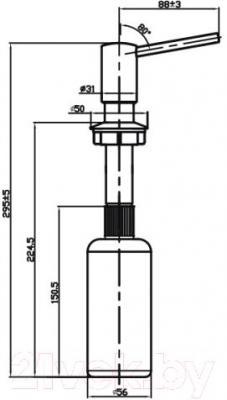 Дозатор встраиваемый в мойку Omoikiri ОМ-02-С (4995004)