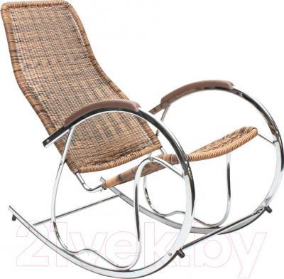 Кресло-качалка Halmar Ben (коричневый) - общий вид
