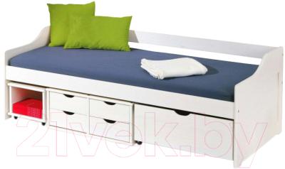 Односпальная кровать Halmar Floro (белый)