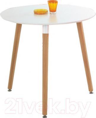 Обеденный стол Halmar Socrates Okragly (белый)