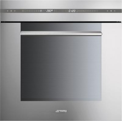 Электрический духовой шкаф Smeg SC115X - вид спереди