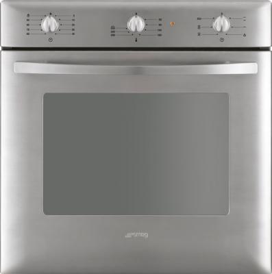 Электрический духовой шкаф Smeg SC250X-8 - вид спереди