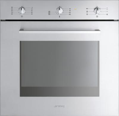 Электрический духовой шкаф Smeg SC465X-8 - вид спереди