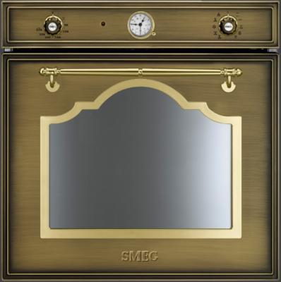 Электрический духовой шкаф Smeg SC750OT-8 - вид спереди